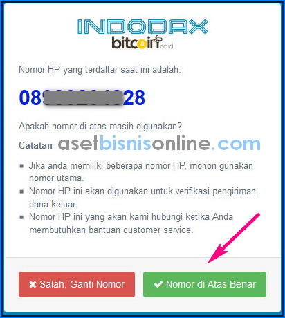 cara daftar bitcoin di indodax 5 - Cara Daftar dan Verifikasi Akun Indodax
