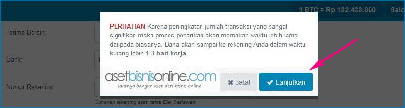 cara withdraw indodax 5 - Cara Withdraw atau Penarikan Saldo Rupiah di Indodax