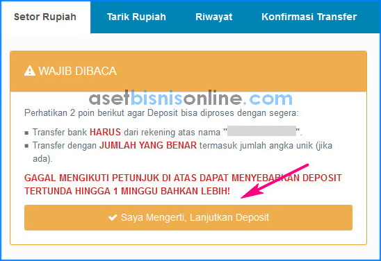 cara deposit di indodax 2 - Cara Deposit Rupiah di Indodax