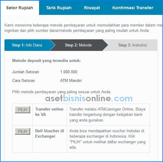 cara deposit di indodax 4 - Cara Deposit Rupiah di Indodax
