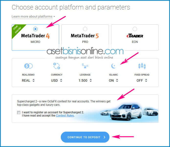 Cara Daftar Dan Membuka Akun Octafx Terbaru 5 - Cara Daftar Dan Membuka Akun Di Broker OctaFX