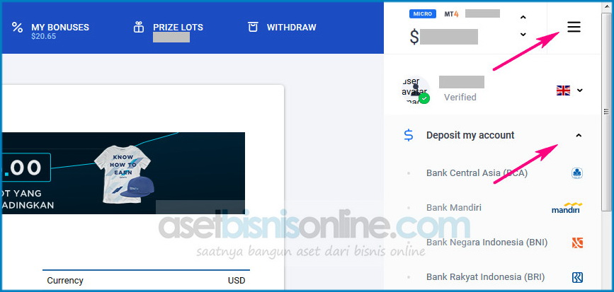 cara deposit octafx melalui bank lokal indonesia 2 - cara deposit octafx melalui bank lokal indonesia-2
