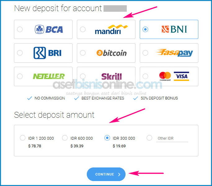 cara deposit octafx melalui bank lokal indonesia 3 - Cara Deposit OctaFX Melalui Bank Lokal Indonesia