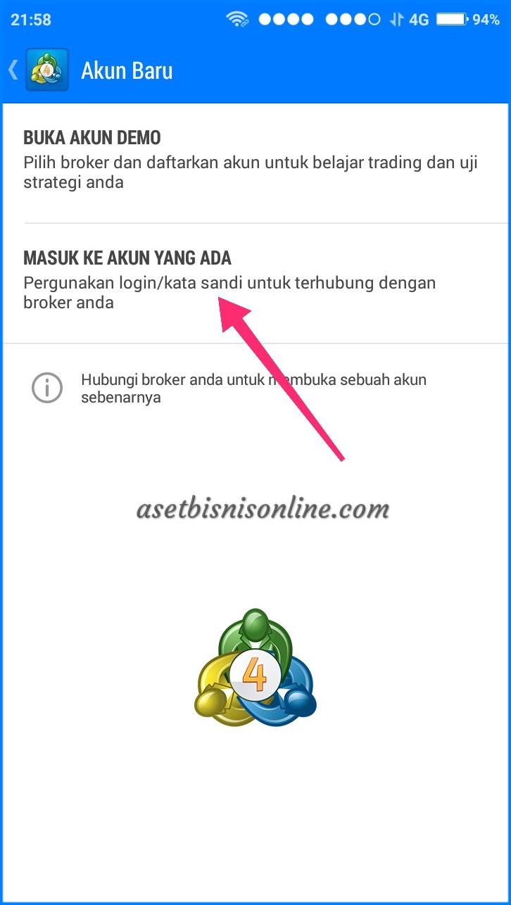 Cara Instal MT4 di Android 5 - Cara Instal Metatrader (MT4) di Android