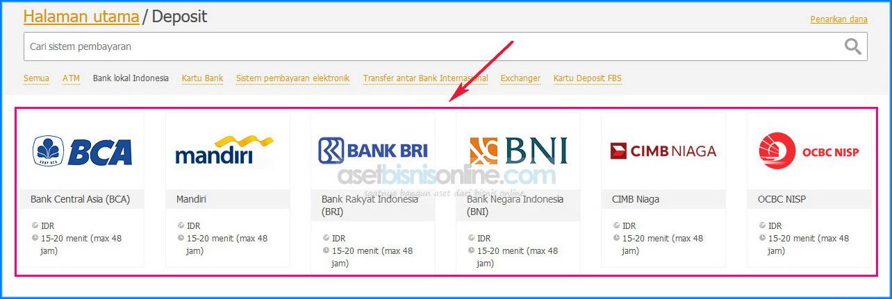 Cara deposit fbs dengan bank 3 - Cara Deposit FBS Melalui Bank Lokal Indonesia