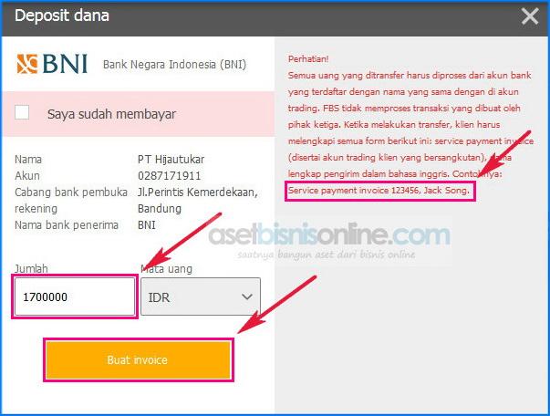 Cara deposit fbs dengan bank 4 - Cara Deposit FBS Melalui Bank Lokal Indonesia
