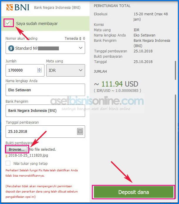 Cara deposit fbs dengan bank 9 - Cara Deposit FBS Melalui Bank Lokal Indonesia
