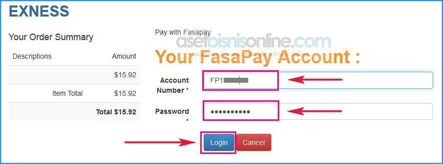 cara deposit exness dengan bank 4 - Cara Deposit Exness Melalui Fasapay