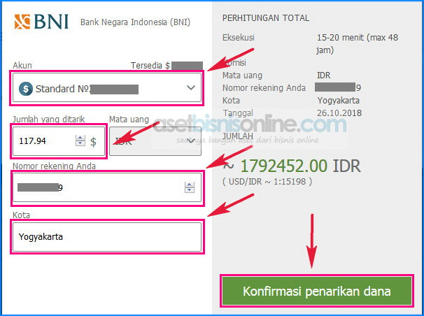 cara penarikan dana withdraw FBS ke bank 2 - Cara Penarikan Dana/ Withdraw FBS ke Bank