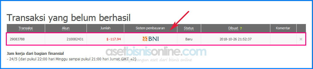 cara penarikan dana withdraw FBS ke bank 5 - Cara Penarikan Dana/ Withdraw FBS ke Bank